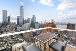 Tribeca Ultra-luxury Furnished Sprawling 2 Bedroom/ 2.5 bths with  Spectacular Skyline & River Views with a Large Terrace