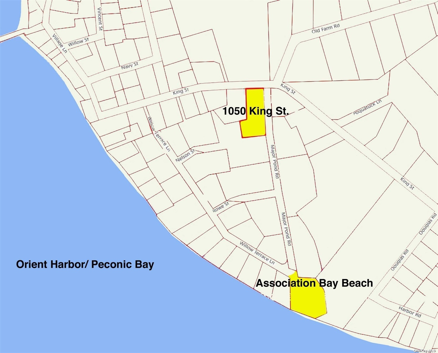 walk to association bay beach