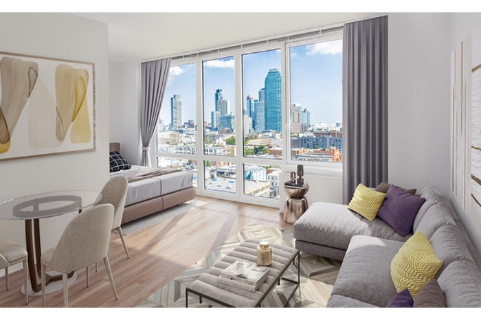Stunning Studio Floor To Ceiling Windows Manhattan Views