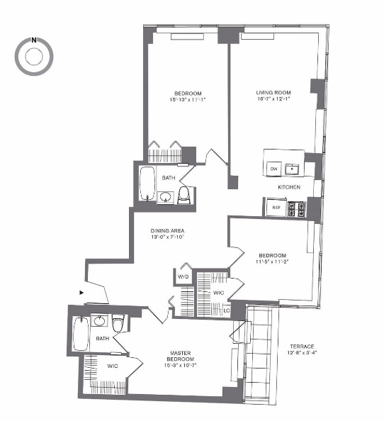 Tribeca Apartments For Rent: Tribeca 3 Bedroom With Terrace 3 BR For Rent, Tribeca