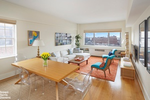 Perched on the 17th floor of a classic Bing and Bing building this perfectly renovated corner apartment with extra high ceilings and a wall of windows offers dramatic views of ...