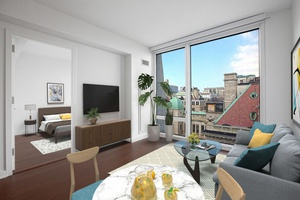No fee! 2 bed/1 bath apt in a luxury building in Morningside Heights