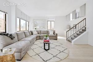 Loft like proportions meet sleek modern design in this sprawling, multi level four bedroom, four bathroom co op on Greenwich Village's storied Bleecker Street.