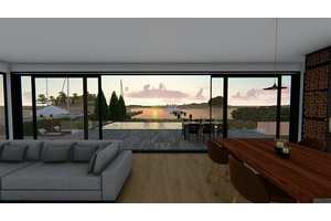Spectacular Modern New Construction-Waterfront ...