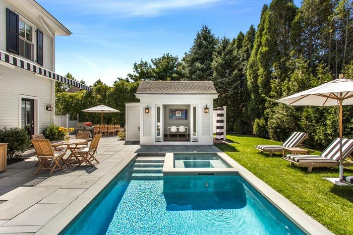 1 Church Street, Heated gunite pool/spa and pool house