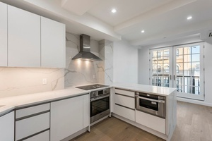 New Modern Two Bed Two Bath Full Floor Apt with Private Outdoor Balcony in Boutique Elevator Building