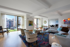 SMACKING FABULOUS The spectacular floor through residence, 14A, boasts full Gramercy Park and city views via 75 feet of floor to ceiling windows.