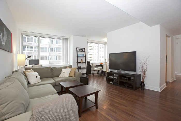 Large Junior 4 with Partial River Views at 120 Riverside Blvd!