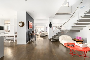 Extraordinary 16 into 11 room sun flooded duplex offering the best of modern loft living in prime Upper East Side location and low monthly maintenance.