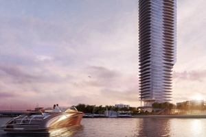 Miami Waterfront views from New Development Una Residences