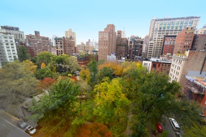 Rarely available two bedroom, two and half bathroom at 50 Gramercy Park North.
