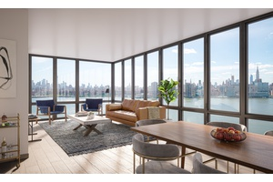 FREE RENT SPECIAL, 2BR 2 Bath Open Space in Stunning Greenpoint Luxury Building