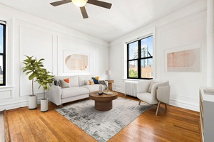 Sweeping city views and the George Washington Bridge framed from your livingroom !