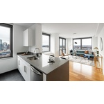 City and River views 1 bed in Hell's Kitchen with Floor-to-Ceiling Windows, W/D in-Unit