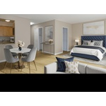 Sun Filled, Luxury Apartment, Studio/1 Bath, No Fee, high Floor, Elevator