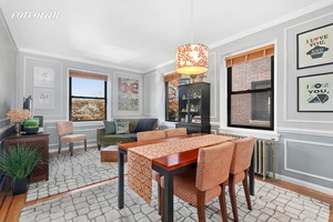 Located at 85 11 Lefferts Boulevard, an intimate pre war cooperative, this 2 BR 1 BA home is bright and airy.