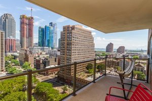 Studio with NYC views directly across from the Grove St. PATH!