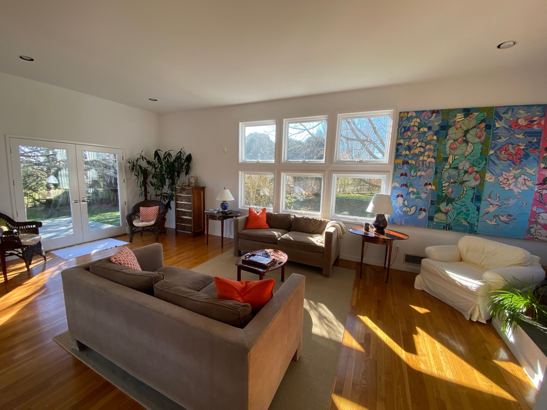 Beautiful open space with abundant natural light all day long