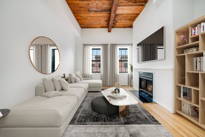 One of a Kind Beautiful Open 1BR 1.5Ba Soho Loft Style Apartment W/ Private Roofdeck for Rent at the Grand Adams!  Laundry In Unit and Laundry Room On Site!  2 Outdoor Courtyards!  Beautiful location in Downtown Hoboken!  $1000 Security, No Fees!