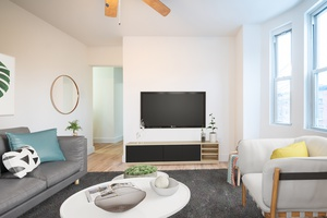 No Broker Fees and 2 Months Free!  Beautiful Open 3BR Apartment located in one of the most desirable Downtown Hoboken Locations available! Laundry in the Building 2 Flights up!