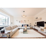 A newly refurbished two-bedroom, two-bathroom apartment located on Portland Place, Marylebone.