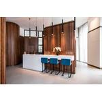 A modern three-bedroom apartment in the luxurious Garrett Mansions development.