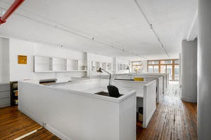 classic SoHo office loft for rent : priced to move : unique, historic, open, airy and bright space : private sunny balcony