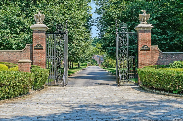 Wrought Iron Entry Gates From JP Morgan Estate Welcome You To Gray Horse Farm